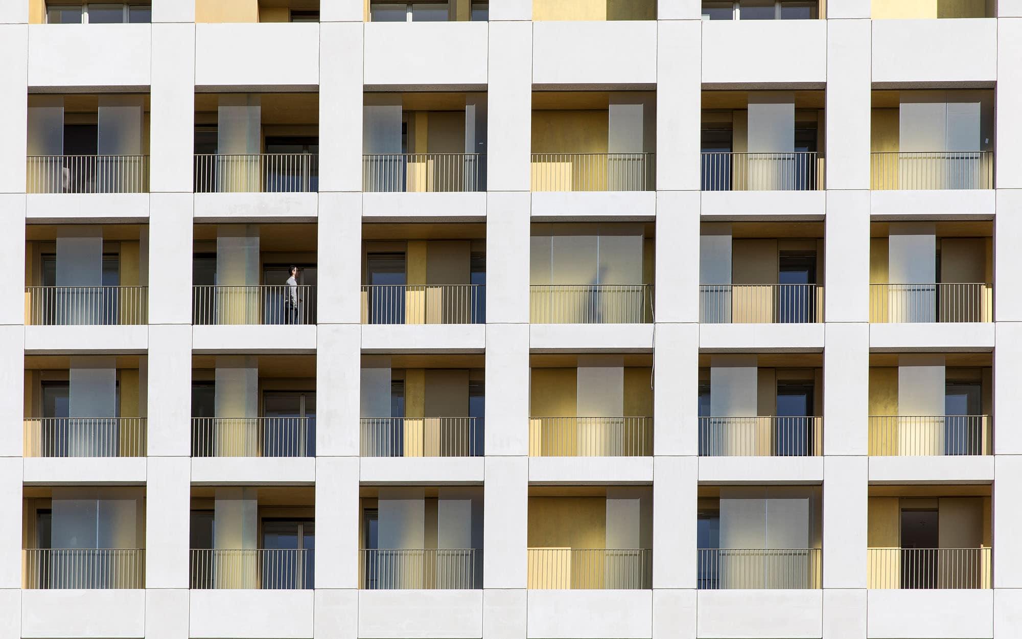Vue sur le projet Terrasse de La Défense de Samuel Delmas