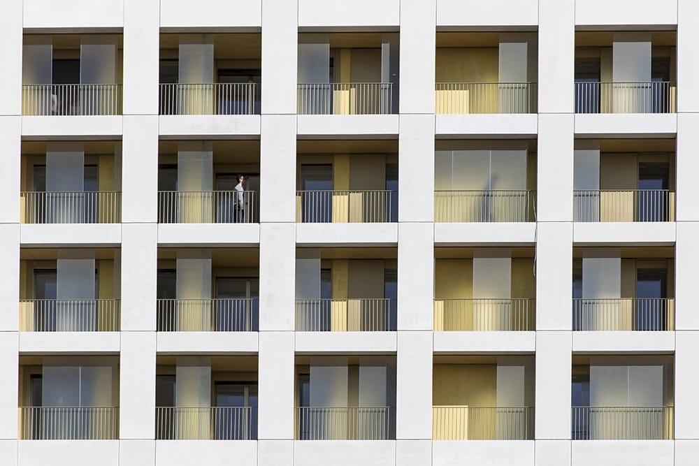 Terrasse et Loggia du projet de Samuel Delmas à Nanterre