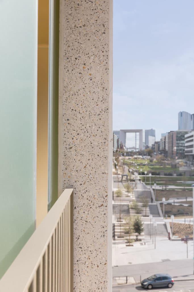 Perspective Arche de la Défense depuis Terrasse