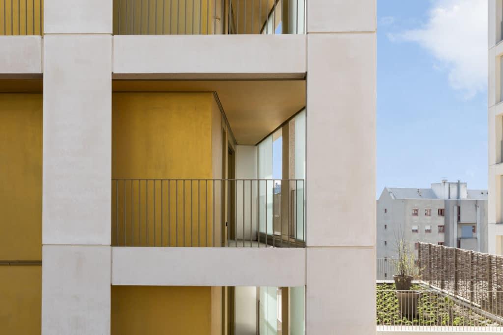 Balcon en retrait, terrasse Nanterre