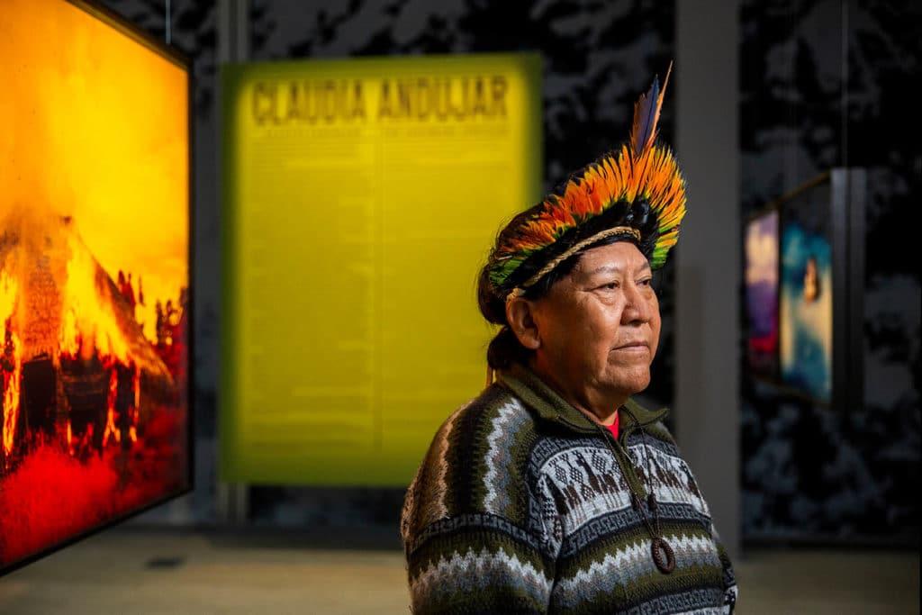 Exposition Claiudia Andujar à la Fondation Cartier : Portrait de Davi Kopenawa